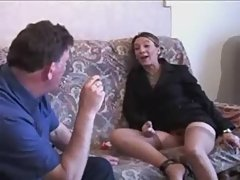 European sexy women fucked on the couch