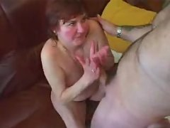 Horny mature mom gets the young dick
