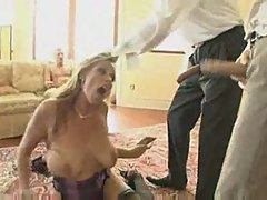 Debi diamond horny slutty milf gangbanged triple penetratio