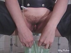 Dominatrix with peeing...