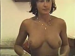 Kinky mature woman sucks cock in bed (..