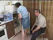 Mature mom fucked by her fat son