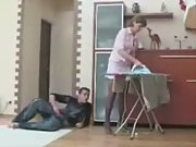 Milf mom fucked doggystyle by boy while doing..