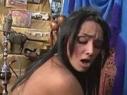 Julia paes sexy indian dress gets anal and facial